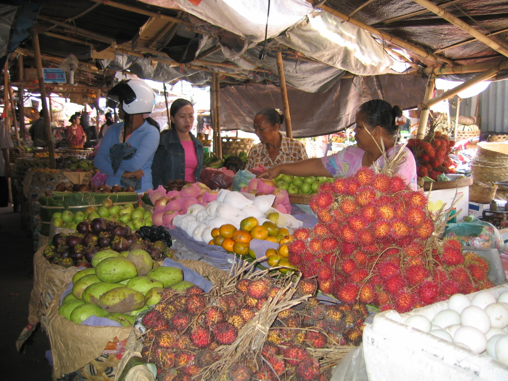 Fruitmarkt, Indonesië